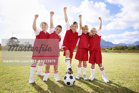 The golden team Stock Photo - Premium Royalty-Free, Image code: 613-08233879