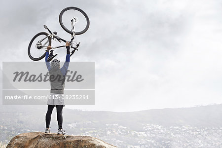 Another mountain cycled! Stock Photo - Premium Royalty-Free, Image code: 613-08235291