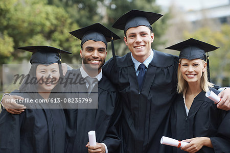 Students and fellow graduates Stock Photo - Premium Royalty-Free, Image code: 613-08235799