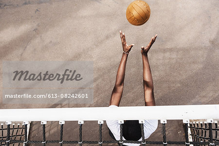 Goalie Catching Soccer Ball Stock Photo - Premium Royalty-Free, Image code: 613-08242601