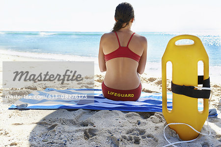 She's a dedicated lifeguard Stock Photo - Premium Royalty-Free, Image code: 613-08276173