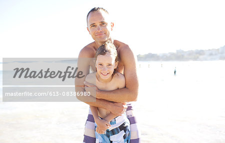 Father and Son Bondi Beach Australia Stock Photo - Premium Royalty-Free, Image code: 613-08386980