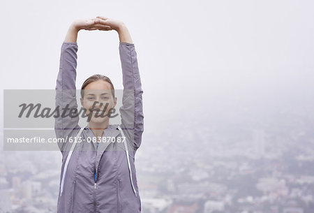 Breathing in the morning air Stock Photo - Premium Royalty-Free, Image code: 613-08387087