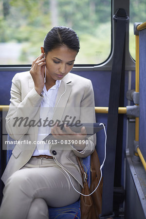 Business on the bus Stock Photo - Premium Royalty-Free, Image code: 613-08390898