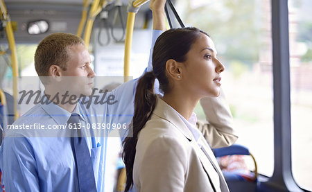 Riding the bus in style Stock Photo - Premium Royalty-Free, Image code: 613-08390906
