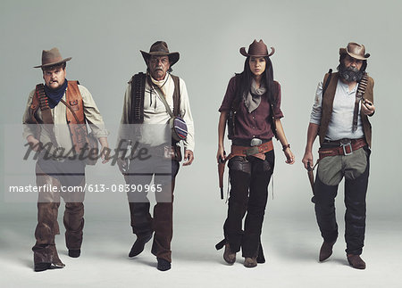 You won't find a more diabolical band of outlaws! Stock Photo - Premium Royalty-Free, Image code: 613-08390965