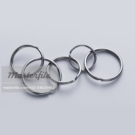 Connected key rings Stock Photo - Premium Royalty-Free, Image code: 613-08525402