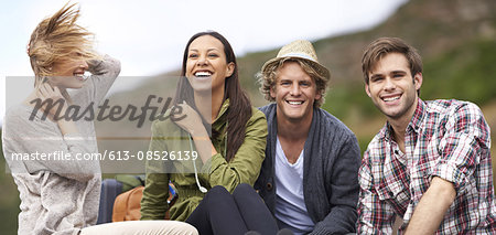Surrounded by great friends Stock Photo - Premium Royalty-Free, Image code: 613-08526139