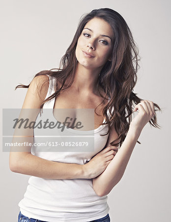 She's the epitomy of gorgeous! Stock Photo - Premium Royalty-Free, Image code: 613-08526879