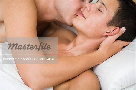 A gay couple getting intimate Stock Photo - Premium Royalty-Free, Image code: 614-02613414