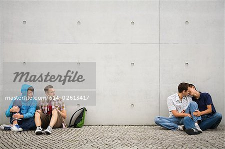Two gay couples Stock Photo - Premium Royalty-Free, Image code: 614-02613417