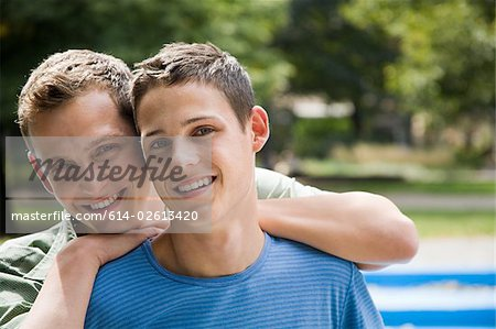 Portrait of a gay couple Stock Photo - Premium Royalty-Free, Image code: 614-02613420