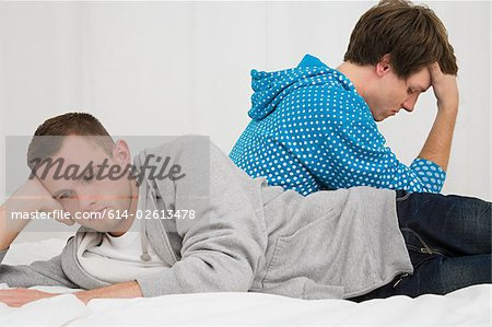 A gay couple having relationship difficulties Stock Photo - Premium Royalty-Free, Image code: 614-02613478
