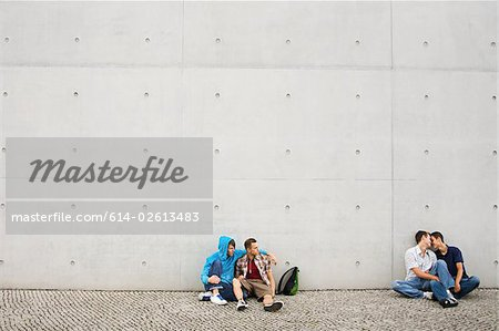 Two gay couples Stock Photo - Premium Royalty-Free, Image code: 614-02613483