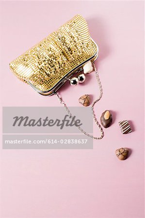Chocolates in a handbag Stock Photo - Premium Royalty-Free, Image code: 614-02838637