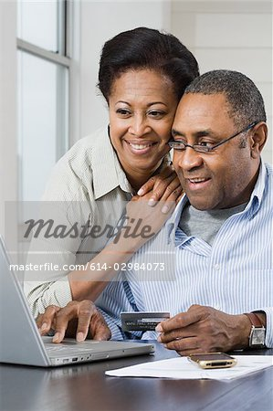 Couple internet banking Stock Photo - Premium Royalty-Free, Image code: 614-02984073