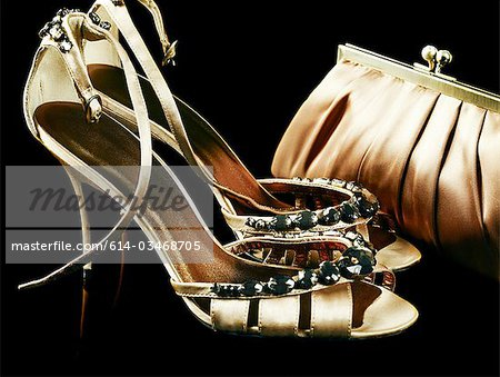 Shoes and handbag Stock Photo - Premium Royalty-Free, Image code: 614-03468705