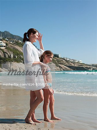 Mother and daughter by the sea Stock Photo - Premium Royalty-Free, Image code: 614-03507150