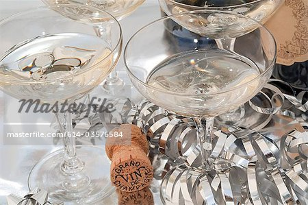 Champagne in coupe glasses Stock Photo - Premium Royalty-Free, Image code: 614-03576584