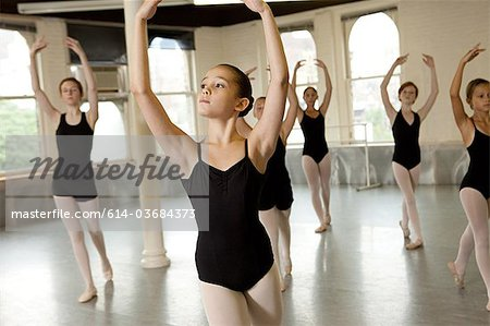 Ballerinas dancing Stock Photo - Premium Royalty-Free, Image code: 614-03684373