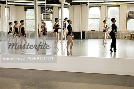 Reflection of ballet class Stock Photo - Premium Royalty-Free, Image code: 614-03684379