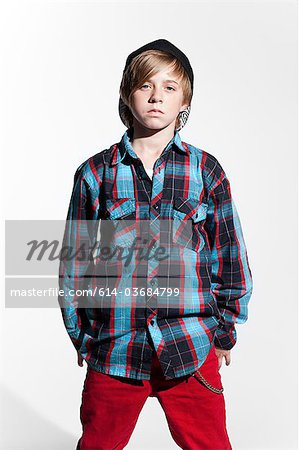 Portrait of a teenage boy Stock Photo - Premium Royalty-Free, Image code: 614-03684799