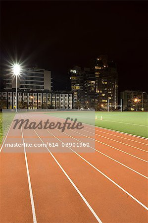 Running track Stock Photo - Premium Royalty-Free, Image code: 614-03901960