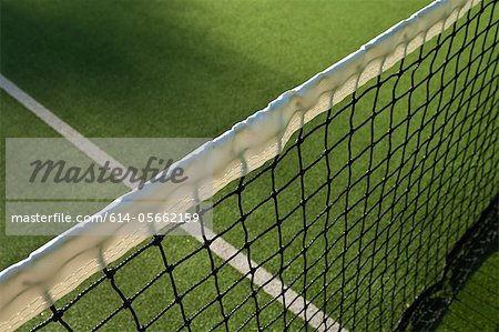 Close up of tennis net Stock Photo - Premium Royalty-Free, Image code: 614-05662159