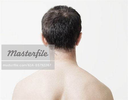 Head and shoulders of man, rear view Stock Photo - Premium Royalty-Free, Image code: 614-05792287