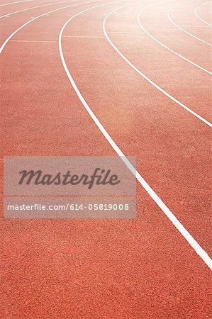 Running track Stock Photo - Premium Royalty-Free, Image code: 614-05819008