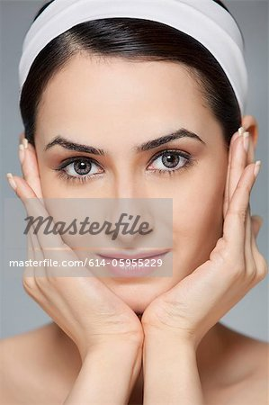 Portrait of a beautiful woman Stock Photo - Premium Royalty-Free, Image code: 614-05955229