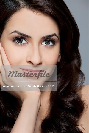 Portrait of a beautiful woman Stock Photo - Premium Royalty-Free, Image code: 614-05955252