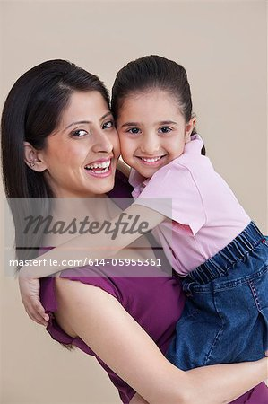 Portrait of mother and daughter Stock Photo - Premium Royalty-Free, Image code: 614-05955361
