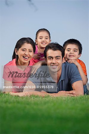 Portrait of a family Stock Photo - Premium Royalty-Free, Image code: 614-05955378