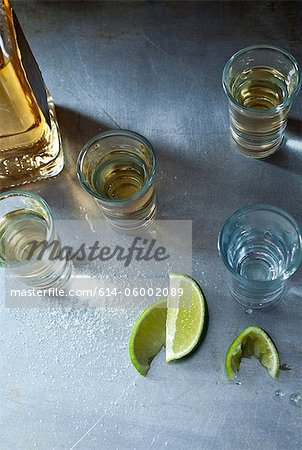 Tequila shots Stock Photo - Premium Royalty-Free, Image code: 614-06002089