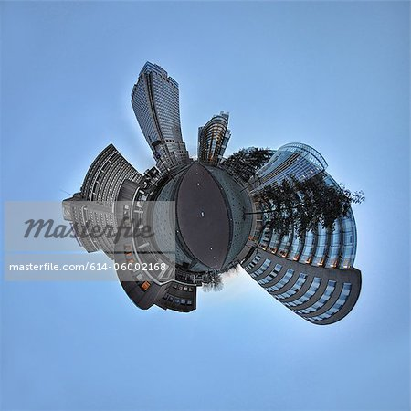 Amstel Business Park, Amsterdam, little planet effect Stock Photo - Premium Royalty-Free, Image code: 614-06002168