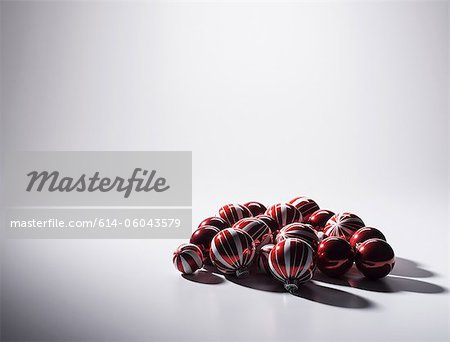 Baubles, studio shot Stock Photo - Premium Royalty-Free, Image code: 614-06043579
