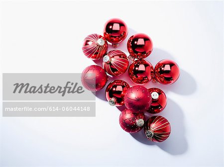 Baubles, studio shot Stock Photo - Premium Royalty-Free, Image code: 614-06044148