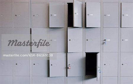 Locker doors full frame Stock Photo - Premium Royalty-Free, Image code: 614-06169138