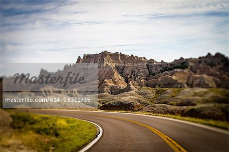Highway in Badlands National Park, South Dakota, USA Stock Photo - Premium Royalty-Free, Image code: 614-06311735