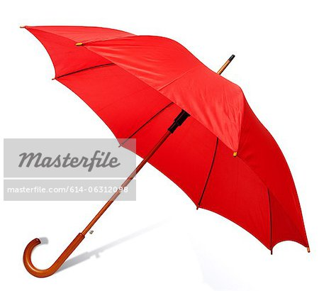 Red umbrella Stock Photo - Premium Royalty-Free, Image code: 614-06312098