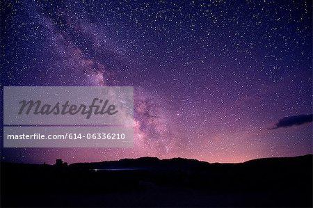 Starry sky at night, mono lake, california, usa Stock Photo - Premium Royalty-Free, Image code: 614-06336210