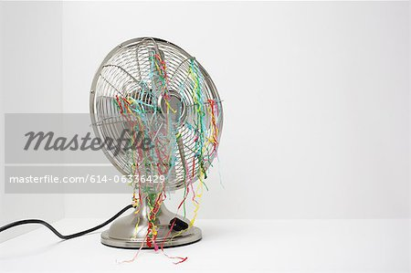 Electric fan with streamers Stock Photo - Premium Royalty-Free, Image code: 614-06336429