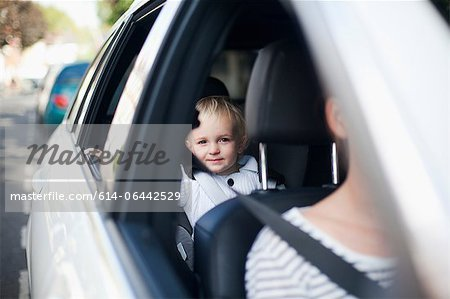 Boy in car Stock Photo - Premium Royalty-Free, Image code: 614-06442529