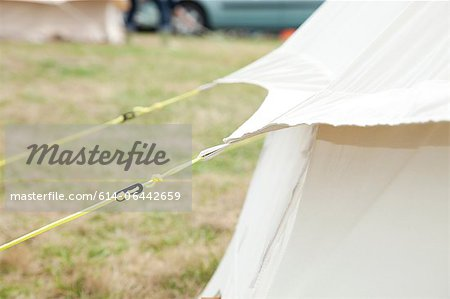 Detail of bell tent in camp site Stock Photo - Premium Royalty-Free, Image code: 614-06442659