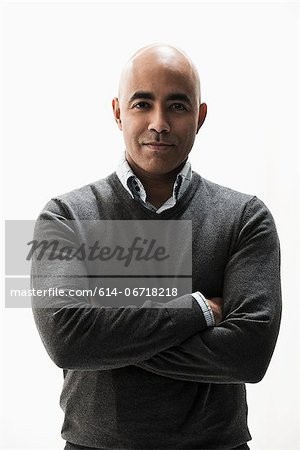 Portrait of businessman with arms folded Stock Photo - Premium Royalty-Free, Image code: 614-06718218