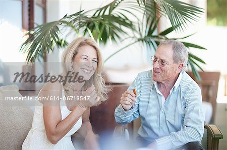 Older couple relaxing together Stock Photo - Premium Royalty-Free, Image code: 614-06718547