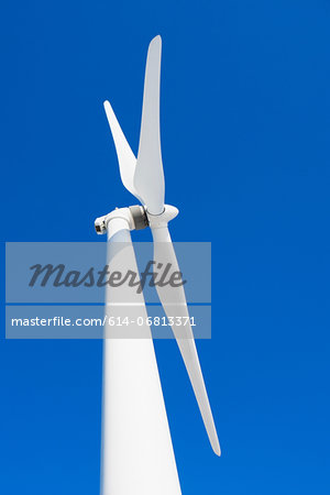 Wind turbine and blue sky Stock Photo - Premium Royalty-Free, Image code: 614-06813371