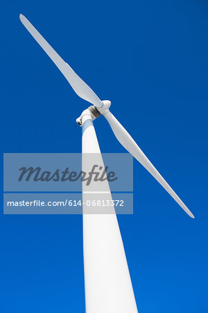 Wind turbine and blue sky Stock Photo - Premium Royalty-Free, Image code: 614-06813372