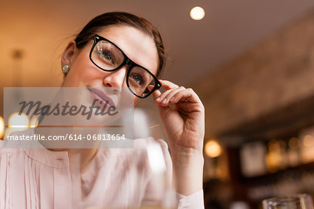 Close up shot of a woman Stock Photo - Premium Royalty-Free, Image code: 614-06813654